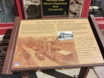The Heart of Our Town Marker image. Click for full size.