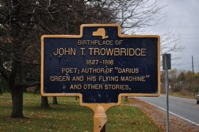 Birthplace of John T. Trowbridge Marker image. Click for full size.