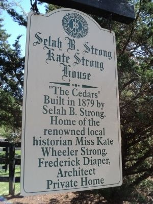 Selah B. Strong - Kate Strong House Marker image. Click for full size.