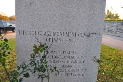 Original Site of Frederick Douglass Monument Marker (continued) image. Click for full size.