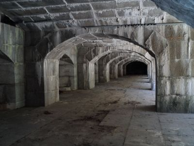 Interior of Fort Totten Battery image. Click for full size.