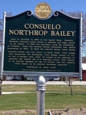 Consuelo Northrop Bailey Marker image. Click for full size.