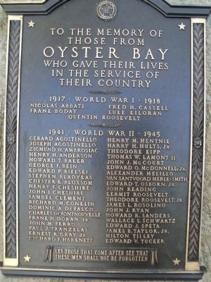 Oyster Bay Honor Roll Marker image. Click for full size.
