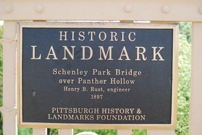Schenley Park Bridge Marker image. Click for full size.