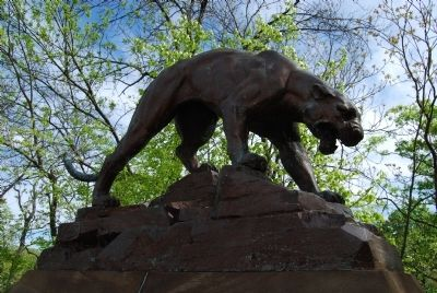 Schenley Park Bridge Panther image. Click for full size.