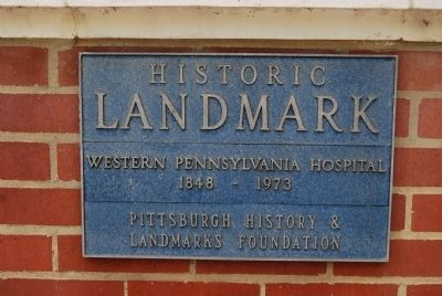 Western Pennsylvania Hospital Marker image. Click for full size.