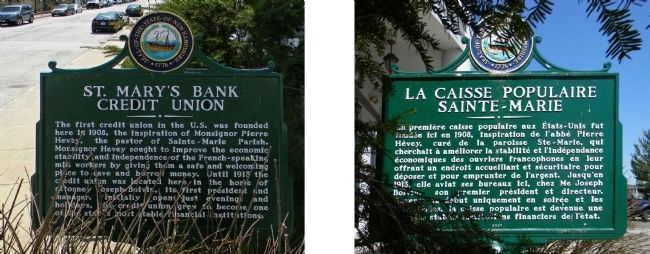 St. Mary's Bank Credit Union / La Caisse Populaire Saint-Marie Marker image. Click for full size.