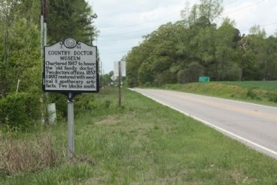 Country Doctor Museum Marker, looking west along US 264 Business (Dean Street) image. Click for full size.