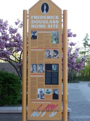 Douglass Home Site Marker Side 1 image. Click for full size.