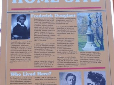 Douglass Home Site Marker Detail 5 image. Click for full size.