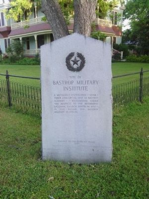 Site of Bastrop Military Institute Marker image. Click for full size.