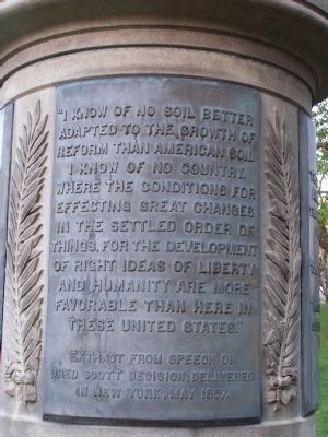 1 of 3 quote tablets on the base of the Monument image. Click for full size.