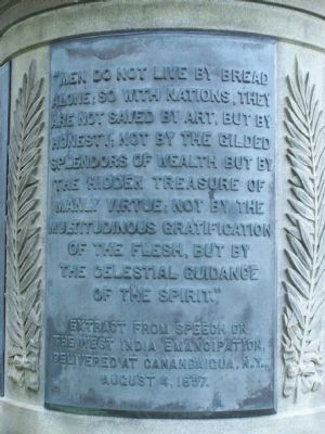 3 of 3 quote tablets on the base of the Monument image. Click for full size.
