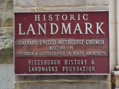 Calvary United Methodist Church Marker image. Click for full size.