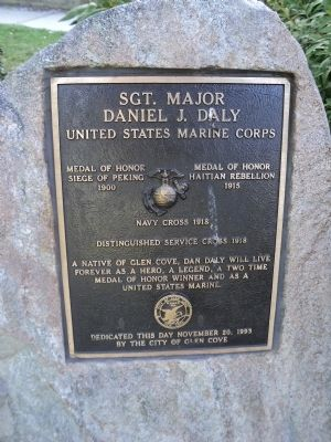 Sgt. Major Daniel J. Daly Marker image. Click for full size.