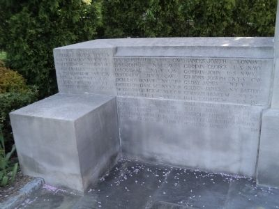 Glen Cove Civil War Memorial Names image. Click for full size.