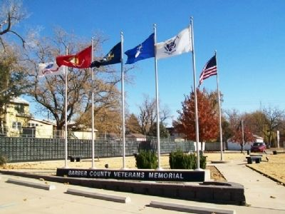 Barber County Veterans Memorial image. Click for full size.