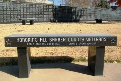 Barber County Veterans Memorial Bench image. Click for full size.