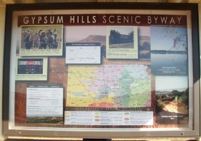 Gypsum Hills Scenic Byway Kiosk (Side A) image. Click for full size.