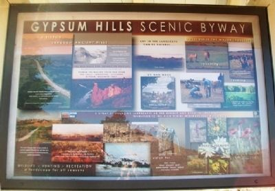 Gypsum Hills Scenic Byway Kiosk (Side B) image. Click for full size.