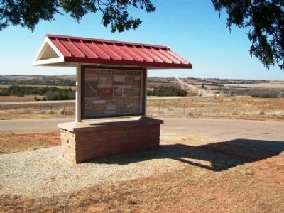 Gypsum Hills Scenic Byway Kiosk image. Click for full size.