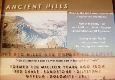Gypsum Hills Scenic Byway Kiosk Historical Detail image. Click for full size.