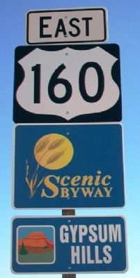 Gypsum Hills Scenic Byway Road Sign image. Click for full size.