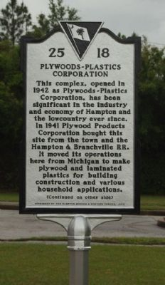 Plywoods - Plastics Corporation Marker image. Click for full size.
