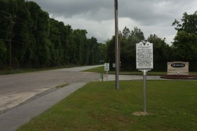 Marker seen looking north on Hoover Street North (US 601) image. Click for full size.