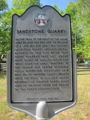 Sandstone Quarry Marker image. Click for full size.