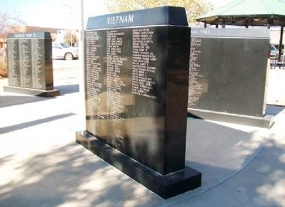 Comanche County Veterans Memorial Honor Roll image. Click for full size.