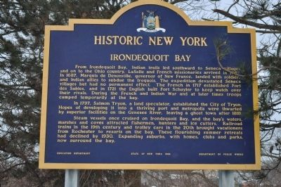 Irondequoit Bay Marker image. Click for full size.