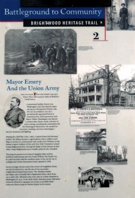 Mayor Emery and the Union Army Marker image. Click for full size.