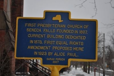 First Presbyterian Church of Seneca Falls Marker image. Click for full size.