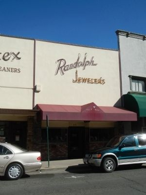 Randolph Jewelers Marker image. Click for full size.