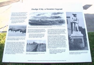 Dodge City, a frontier legend Marker image. Click for full size.