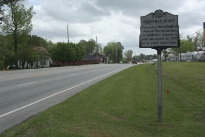 Granville Grant Marker seen traveling east along John Small Avenue (US 264) image. Click for full size.