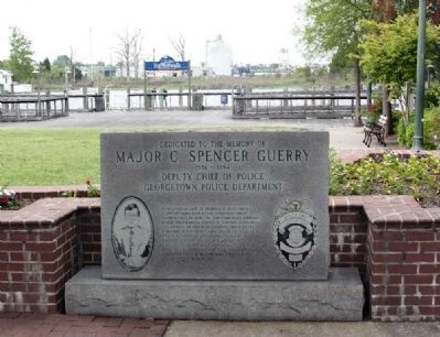 Major C. Spencer Guerry at the small Memorial Park on Front Street image. Click for full size.