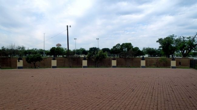 Bronze busts in memorial park near the Kelly Air Force Base Marker image. Click for full size.