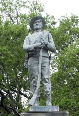 Company A, 10th South Carolina Infantry Regiment Sculpture close-up image. Click for full size.