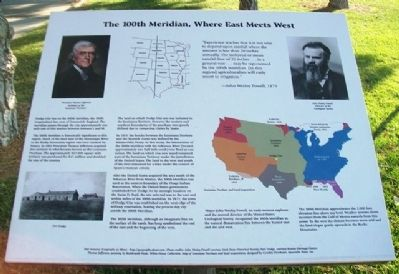 The 100th Meridian, Where East Meets West Marker image. Click for full size.