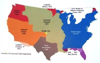Map on The 100th Meridian, Where East Meets West Marker image. Click for full size.