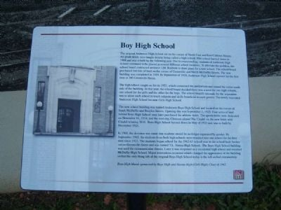 Boy High School Marker image. Click for full size.