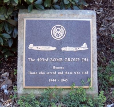 493rd Bomb Group Marker image. Click for full size.