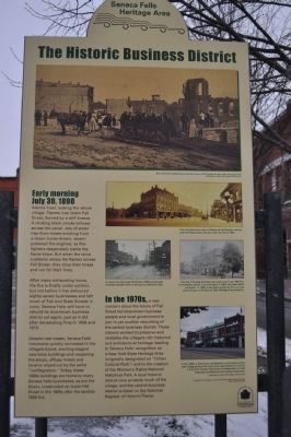 The Historic Business District Marker image. Click for full size.