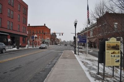 The Historic Business District Marker as seen facing east image. Click for full size.