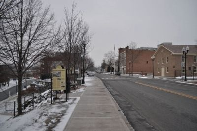 The Historic Business District Marker as seen facing west image. Click for full size.