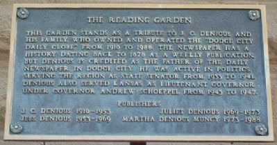 The Reading Garden Marker image. Click for full size.