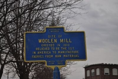 Site of Woolen Mill Marker image. Click for full size.