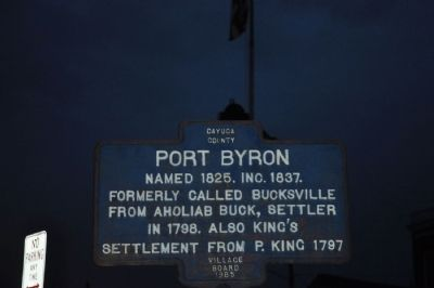 Port Byron Marker image. Click for full size.